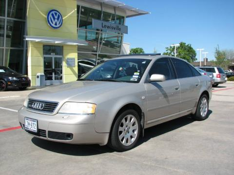 Cashmere Grey Pearl 1999 Audi A6 2.8 quattro Sedan with Melange Beige