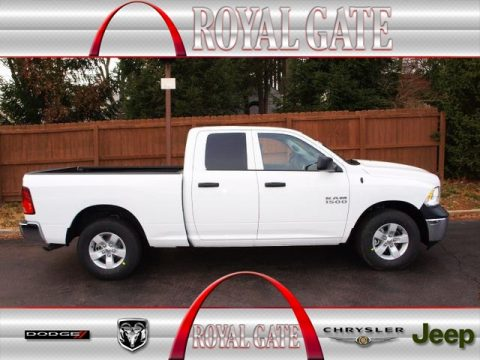 Bright White Ram 1500 Tradesman Quad Cab.  Click to enlarge.