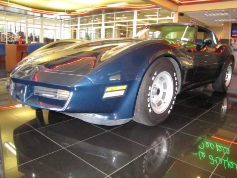 Dark Blue Metallic Chevrolet Corvette Coupe.  Click to enlarge.