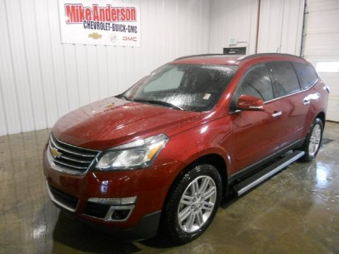 Crystal Red Tintcoat Chevrolet Traverse LT.  Click to enlarge.