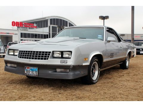 Silver Metallic Chevrolet El Camino SS Sport.  Click to enlarge.