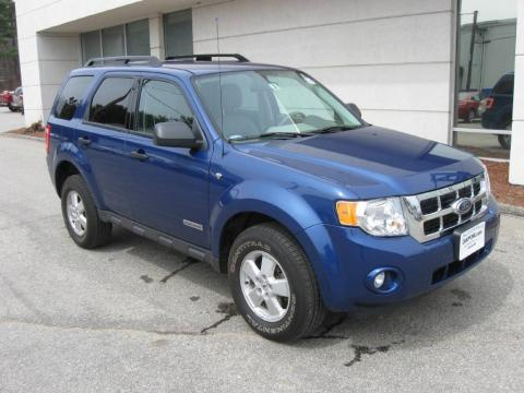 Vista Blue Metallic 2008 Ford Escape XLT V6 4WD with Stone interior Vista