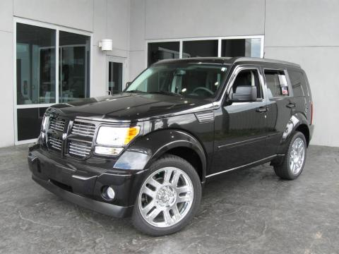 Brilliant Black Crystal Pearl 2009 Dodge Nitro R/T 4x4 with Dark Slate