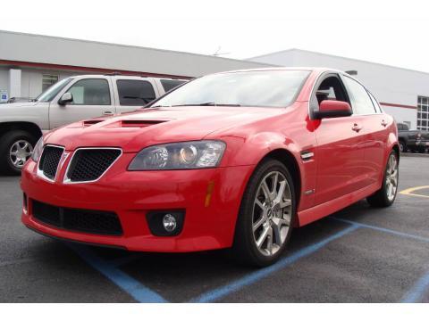Liquid Red 2009 Pontiac G8 GXP with Onyx interior Liquid Red Pontiac G8 GXP.