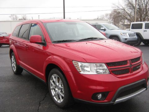 Bright Red Dodge Journey R/T AWD.  Click to enlarge.