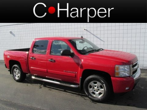 Victory Red Chevrolet Silverado 1500 LT Z71 Crew Cab 4x4.  Click to enlarge.