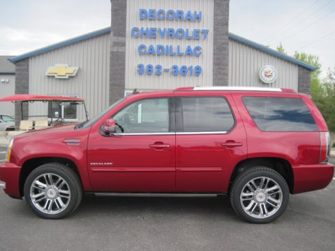 Crystal Red Tintcoat Cadillac Escalade Premium AWD.  Click to enlarge.