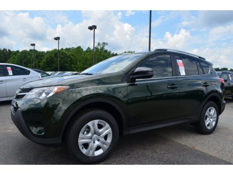 Spruce Green Mica Toyota RAV4 LE AWD.  Click to enlarge.