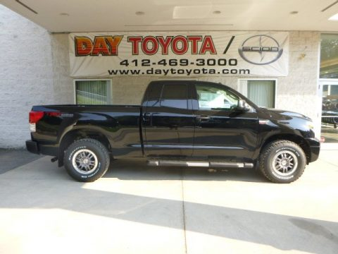 Black Toyota Tundra TRD Rock Warrior Double Cab 4x4.  Click to enlarge.
