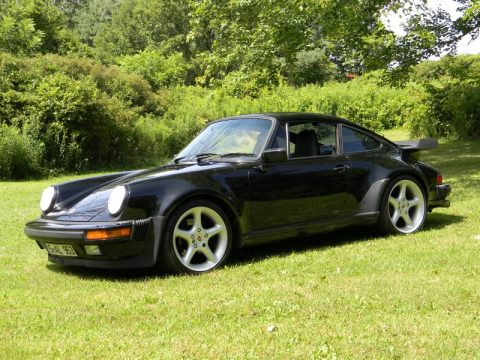 Black Porsche 911 Turbo Coupe.  Click to enlarge.