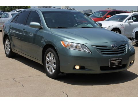 Aloe Green Metallic Toyota Camry XLE.  Click to enlarge.