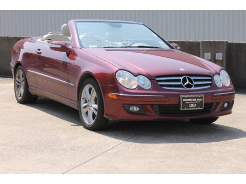 Storm Red Metallic Mercedes-Benz CLK 350 Cabriolet.  Click to enlarge.
