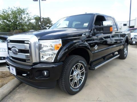 Tuxedo Black Metallic Ford F250 Super Duty Platinum Crew Cab 4x4.  Click to enlarge.