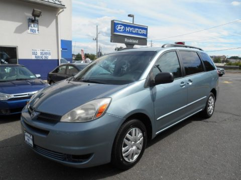 Blue Mirage Metallic Toyota Sienna LE.  Click to enlarge.