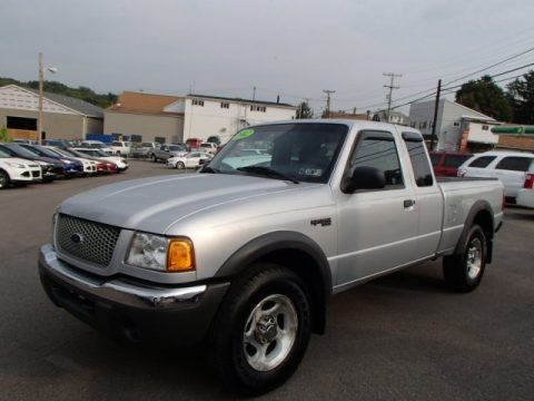 Silver Frost Metallic Ford Ranger XLT SuperCab 4x4.  Click to enlarge.