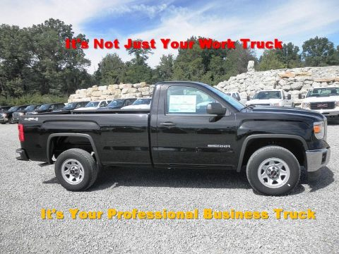Onyx Black GMC Sierra 1500 Regular Cab 4x4.  Click to enlarge.
