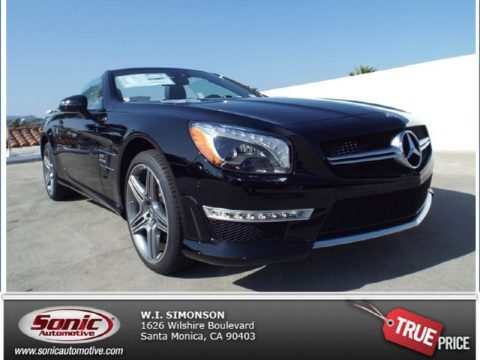 Black Mercedes-Benz SL 63 AMG Roadster.  Click to enlarge.