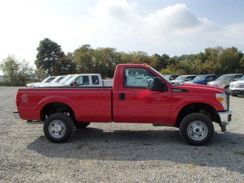 Vermillion Red Ford F350 Super Duty XLT Regular Cab 4x4.  Click to enlarge.