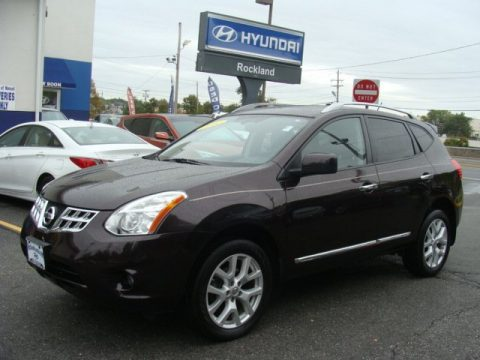 Black Amethyst Nissan Rogue SV AWD.  Click to enlarge.