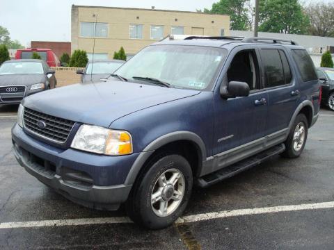 Medium Wedgewood Blue Metallic 2002 Ford Explorer XLT 4x4 with Graphite
