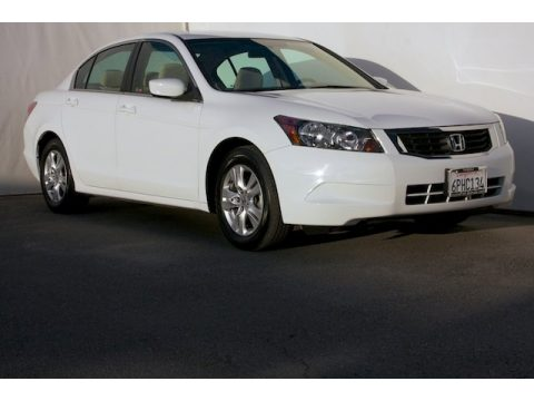 Taffeta White Honda Accord LX-P Sedan.  Click to enlarge.