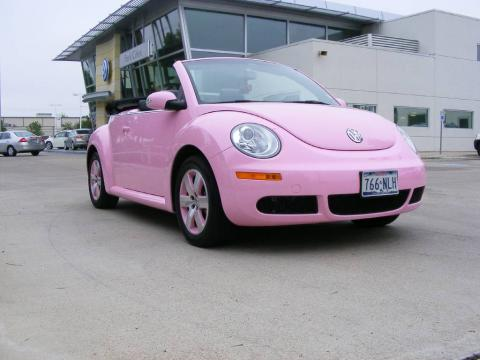 Custom Pink Volkswagen New Beetle 2.5 Convertible.  Click to enlarge.