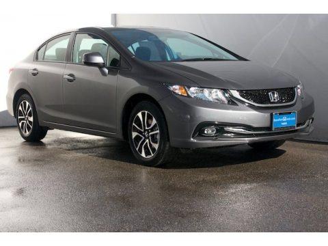 Polished Metal Metallic Honda Civic EX-L Sedan.  Click to enlarge.