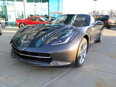 Cyber Gray Metallic Chevrolet Corvette Stingray Coupe. Click to