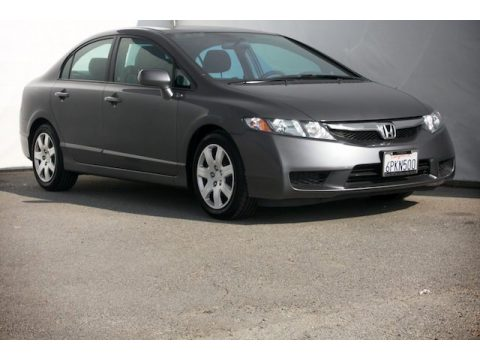 Polished Metal Metallic Honda Civic LX Sedan.  Click to enlarge.
