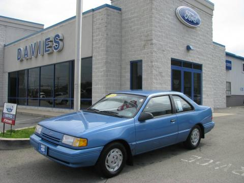 Bimini Blue Metallic 1993 Ford Tempo GL Coupe with Grey interior Bimini Blue