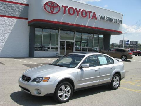 Brilliant Silver Metallic 2005 Subaru Outback 3.0 R Sedan with Taupe