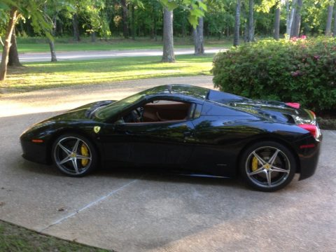 Nero Pastello (Black) Ferrari 458 Spider.  Click to enlarge.