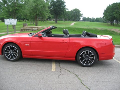Race Red Ford Mustang GT Convertible.  Click to enlarge.