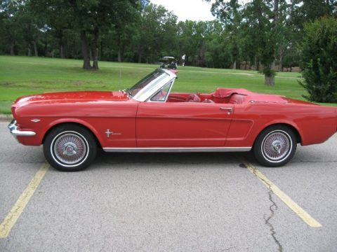 Red Ford Mustang Convertible.  Click to enlarge.