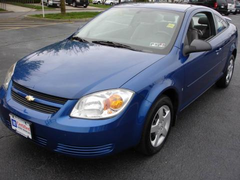 Laser Blue Metallic 2006 Chevrolet Cobalt LS Coupe with Gray interior Laser