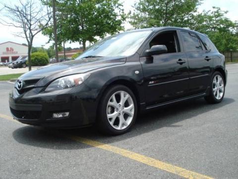 Black Mica 2007 Mazda MAZDA3 s Sport Hatchback with Black interior Black
