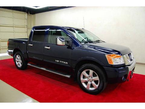 Majestic Blue 2008 Nissan Titan LE Crew Cab with Charcoal interior Majestic