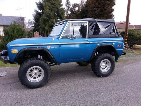 Metallic Blue Ford Bronco Sport Wagon.  Click to enlarge.