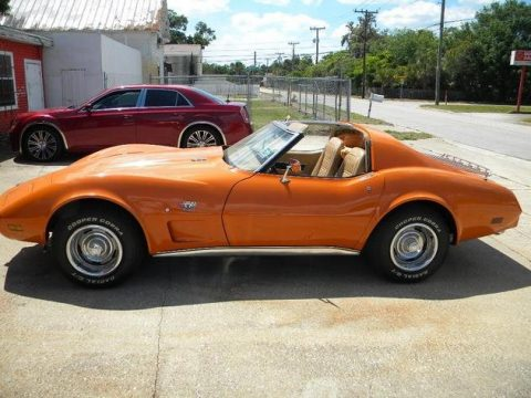 Orange Chevrolet Corvette Coupe.  Click to enlarge.