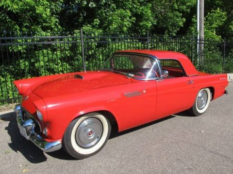 Torch Red Ford Thunderbird Convertible.  Click to enlarge.