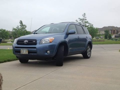 Pacific Blue Metallic Toyota RAV4 Sport V6 4WD.  Click to enlarge.