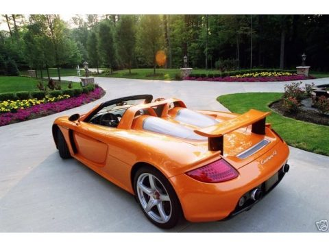 Metallic Orange Paint to Sample Porsche Carrera GT .  Click to enlarge.