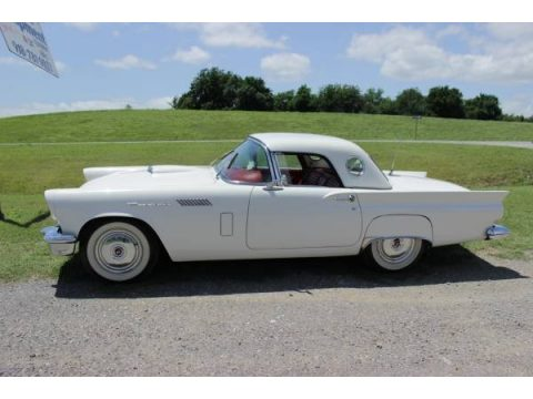 Colonial White Ford Thunderbird Convertible.  Click to enlarge.