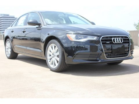 Phantom Black Pearl Audi A6 2.0T Premium Plus quattro Sedan.  Click to enlarge.
