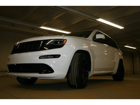 Bright White Jeep Grand Cherokee SRT 4x4.  Click to enlarge.